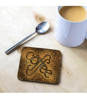 Coffee Printed Tea Coaster