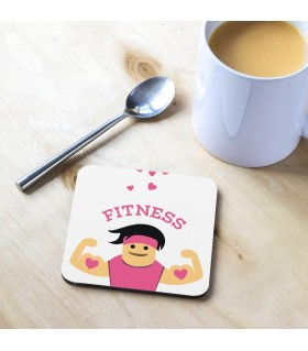 Fitness Printed Tea Coaster