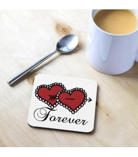 Forever Heart Printed Tea Coaster