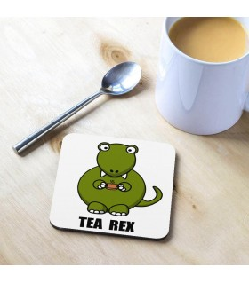 Tea Rex Dinosaur Printed Tea Coaster