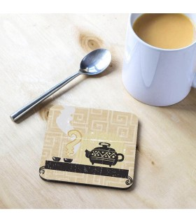 teapot Printed Tea Coaster