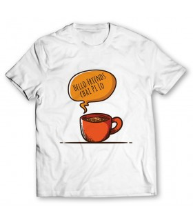 hello friends chai pi lo printed graphic t-shirt