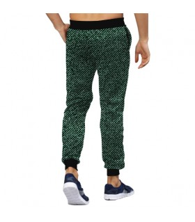 Dark green Jeans pattern jogger pant