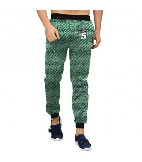green Jeans pattern jogger pant