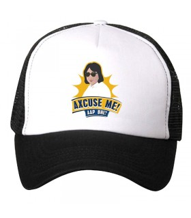 axcuse me art printed cap