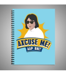 axcuse me art printed notebook