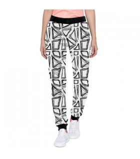 Hand drawn pattern jogger pant