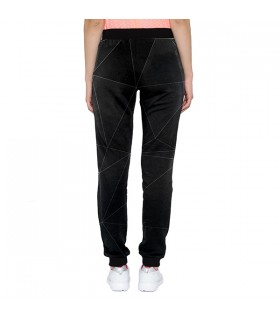 black geometrical design jogger pant
